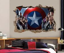 Captain America Civil War Ironman Smashed Wall Decal Wall Sticker Art Mural H490