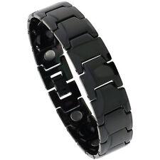 Tungsten Carbide Black Magnetic Bracelet w/ Bar Links