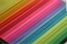 50 BIANCO AL VERDE GRADUATI//Ombreggiato QUILLING strisce di carta-larghezza 5 mm