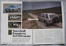 1991 Vauxhall Frontera 2.3 TD estate Original Autocar magazine Road test