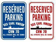 USS CARL VINSON CVN 70 Parking Sign US Navy USN