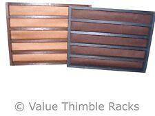 100 thimble rack in matt black with mocha felt back** bulk buy**
