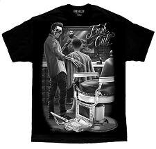 Barber Shop Appointment Fresh Cut Rockabilly Greaser David Gonzales DGA T Shirt