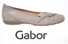 GABOR Schuhe Damenschuhe Modische Ballerina kiesel beige Leder NEU
