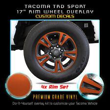 For 2016-2019 Tacoma TRD Sport Rim Wheel x4 Vinyl Decals - Satin Matte Chrome