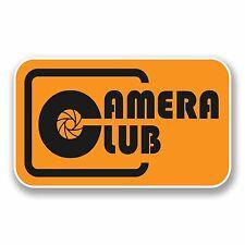 2 X 10cm Fotocamera Club Vinile Adesivi Auto Laptop Fotografia Novità Regalo # 9867