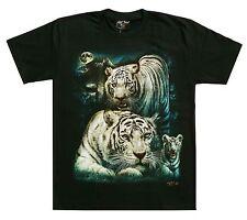 T-Shirt Tiger weiß Gr.S, M, L, XL, Afrika Safari, Raubkatze Raubtier,Zoo Savanne