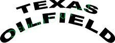 TEXAS OILFIELD vinyl decal/sticker truck window roughneck oil hardhat state