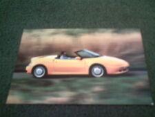 1992 LOTUS ELAN Yellow Car - GORDON LAMB SHEFFIELD COLOUR POST CARD - Brochure