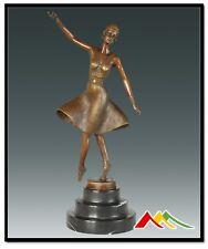 """Signed  D.H.Chiparus, bronze art deco statue """"Ballet Russe"""" Sculpture"""