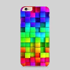 Rainbow Cubes Colour 3D Effect Phone Case Cover