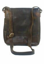 Eastline Leder Handtasche Schultertasche Tasche Messenger braun 9129