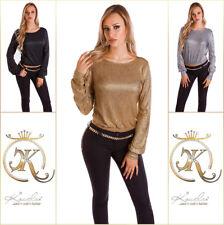Sexy Koucla Party- Langarmshirt mit WOW-Rücken Shirt Bluse
