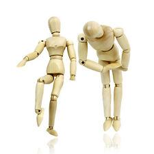 Wood Human Model Movable Joint Figurine Statue Dolls Kids Puppet Mannequin Art