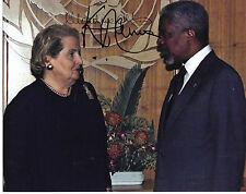 Kofi Annan and Madeleine Albright signed 8x10 Photo w PROOF - Bill Clinton