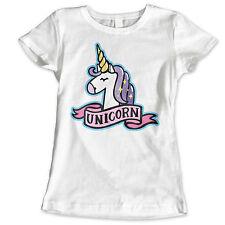 Girls Womans Unicorn Celeb Girly Princess Tumblr Fairies Bulldog Glam 5 T Shirt