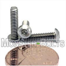 #4-40 - Stainless Steel Button Head Socket Cap Screws SAE Coarse Thread 18-8 A2