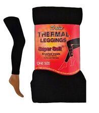 Ladies Black Thermal Super Soft Leggings