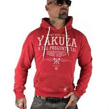 """YAKUZA - Herren Hoodie HOB 8029 """"Respuesta"""" ribbon red (rot)"""