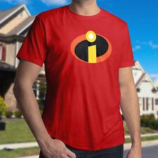The Incredibles Mr Logo Symbol Superhero Costume Men Unisex CrewNeck Tee T-Shirt
