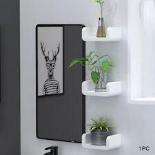 Plastic Shelf Storage Rack Wall Toilet Display Household Room Hanging Organizer