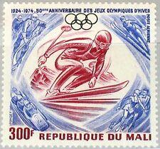 Mali 1974 460 c230 SCI SPORT INVERNALI Olympics 50 Ann OLYMPIC RINGS anelli MNH
