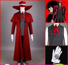 Hellsing Ultimate Alucard Jacket Coat Pant Hat Set Halloween Cosplay Costumes