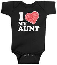 Threadrock Baby I Love My Aunt Infant Bodysuit Heart Family Auntie Cute
