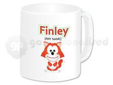 Personalised Polymer (Plastic) Mug- Fox Design- Any Name