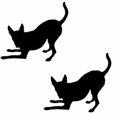 2 x Rat Terrier Dog Sticker Car Window Wall Stickers Decal Pack No.23 Black