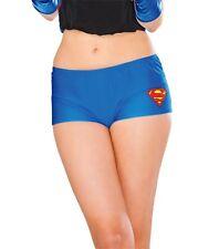 Adult Supergirl Boy Shorts Fancy Dress Adult Costume