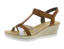 Rieker Damen Sandalen Größe 42 mit hohem Absatz (5 8 cm