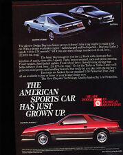 1984 Dodge Daytona Turbo Z - Grown - Classic Vintage Advertisement Ad D197