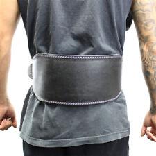 "Last Punch 6"" Fitness Split Leather Weight Lifting Belt Padded Black Good Quali"