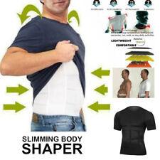 Men Body Toning T-shirt The UltraDurable Body Compression Shapewear Tank Tops US