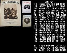 HEBDO ILLUSTRATION  DE JANVIER 1931A AOUT 1932 VOIR DISPONIBILITÉ TBE
