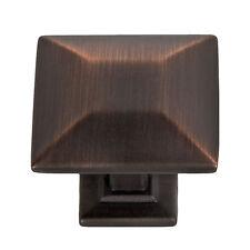 """Modern Pyramid Square Kitchen Cabinet Hardware Knob 1 1/4"""", Oil Rubbed Bronze"""