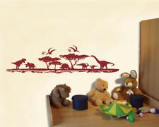 Wandtattoo Dinosaurier Landschaft Wandsticker Wandaufkleber Kinderzimmer