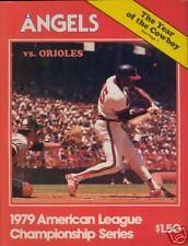 1979  A.L.C.S.  Game Program  Balt. @ Cal.  Ex+/NM Con.