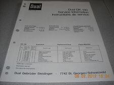 Dual DK130 Service Manual
