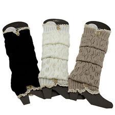 Winter Crochet Leg Boot Warmers Button Knit Knee High Winter socks Stocking