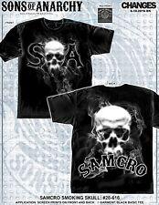 Sons Of Anarchy Soa Samcro Fumar Calavera Motero Tv Jax Segador Camisa Hombre