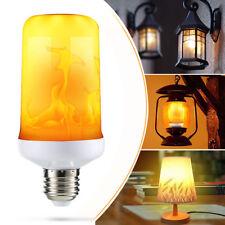 4 Modes LED Flame Effect Simulated Nature Fire Light Bulb E27 5W Decoration Lamp