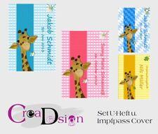 Set Impfpass u. Untersuchungsheft U-Heft Hülle Taufe  Geburt Geschenk Giraffe