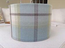 Handmade Lampshade Porter & Stone, Balmoral Tartan, Duck Egg Blue check