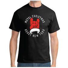 Metal Pesado De Navidad Año Nuevo T-Shirt-rock Santa Thrash Gracioso Camiseta De Navidad