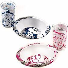 """""""Die Schlümpfe"""" Geschirr Set, Teller & Becher,Pink oder Blau"""