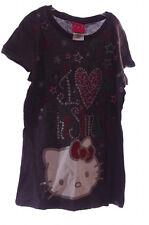 Sanrio Hello Kitty Pink Red Glitter SS Christmas Xmas Shirt 4 5 6 7 8 10 12 New