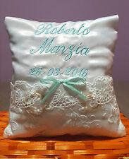 Cuscino porta fedi cuscinetto personalizzato nomi data matrimonio scegli colori