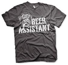 Gas Monkey Garage Beer Assistant Affe Männer Men T-Shirt Dunkelgrau Dark Grey